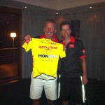 Stewart with his Monjon Yellow Jersey