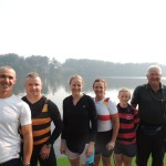 Our crew from the left, Pete, Steve, Kate, Carol, Nell and coach Lindsay