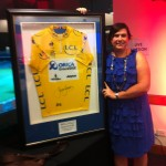 Kirsty with her auction win