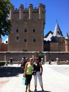 Outside the castle with Hannah