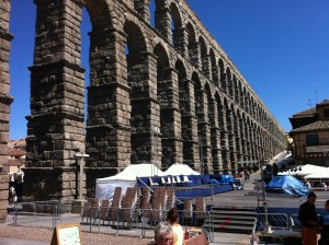 Aqueduct at the entrance to Segovia