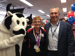 Mark Berretta and the Cash Cow from Channel 7's Sunrise
