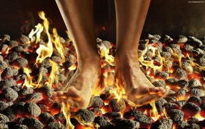 Neuro pain can feel like walking on hot coals!