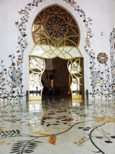 Amazing entrance to the main prayer hall